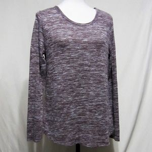 Old Navy Size Med. plum heather top, back flap